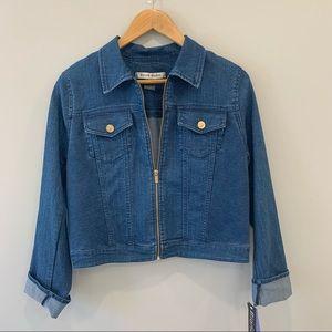 Cropped Denim Jacket SZ M NWT